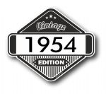 VIntage Edition 1954 Classic Retro Cafe Racer Design External Vinyl Car Motorcyle Sticker 85x70mm